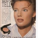 Coty Chronologix Foundation Makeup Print Ad Glamour March 1993