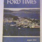 Ford Times August 1950 Original copy Free Shipping