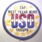 CAF West Texas Wing USO Troupe Patch Free Shipping