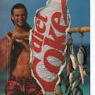 Diet Coke Full 2 page Printed Ad March 1993 Glamour Magazine Free Shipping