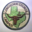 Boy Scouts of America Longhorn Council Camper Patch Free Shipping Green Border