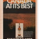 Canadian Mist Full page Print Ad June 1972 Popular Science Magazine
