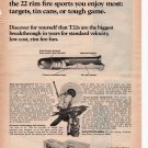 Winchester T22  Full Page Printed Ad June 1972 Popular Science