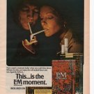 L&M  Cigarettes Full Page Print Ad June 1972 Popular Science Magazine