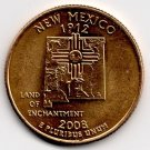 Gold plated New Mexico state quarter 2002 Denver Fine to Very Fine