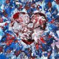 Modern original wall art acrylic painting valentine everlasting love heart-new