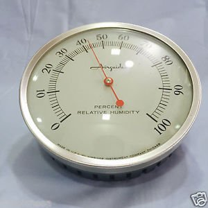 Vintage AirGuide Percent Relative Humidity Meter. Made in USA