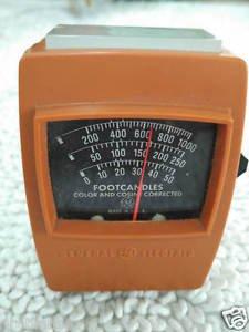 General Electric Light Meter Type 214. Exposure Meter