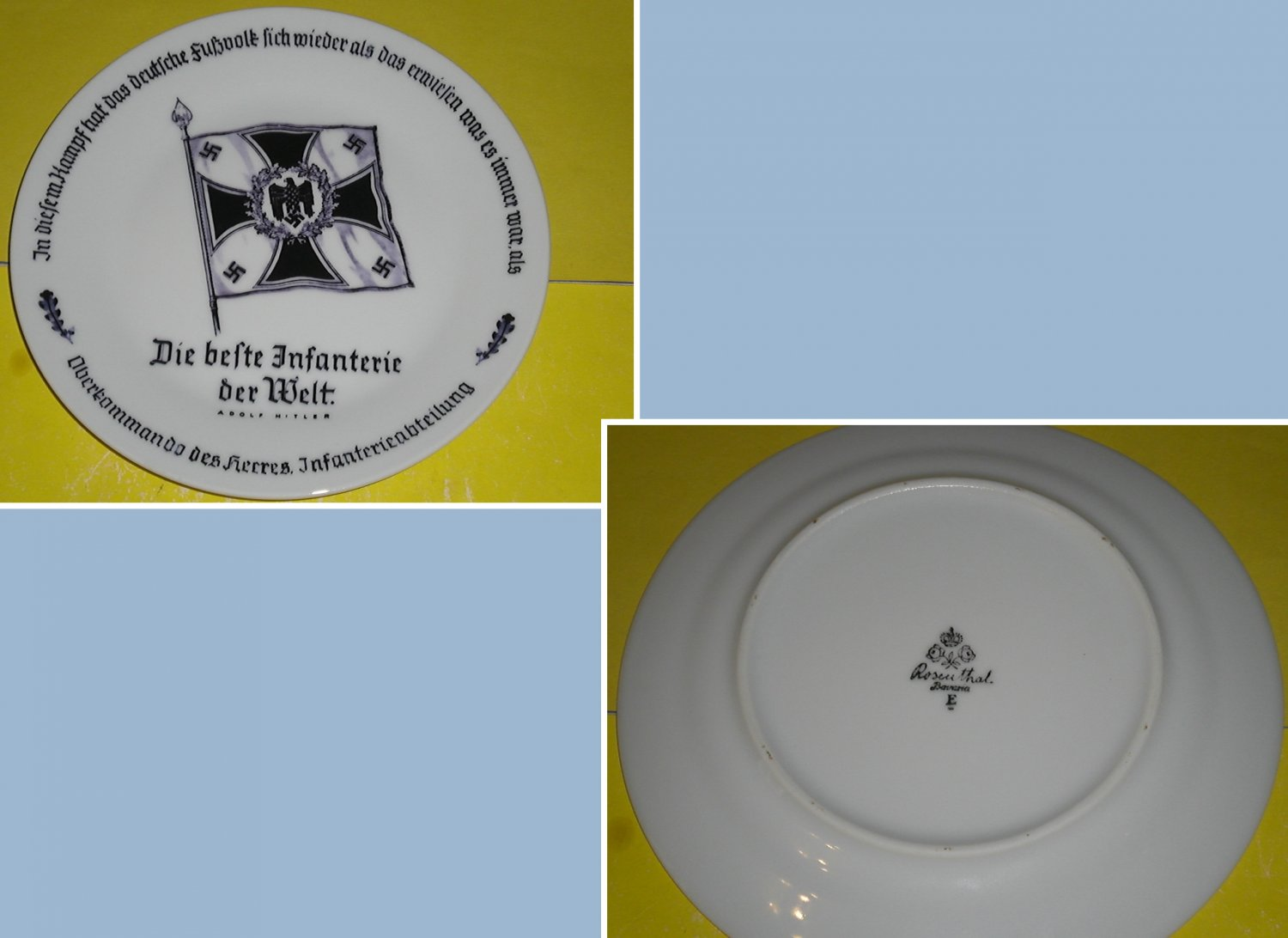 Germany. Рorcelain plate with underglaze pattern. Trademark Rosenthal, Bavaria.