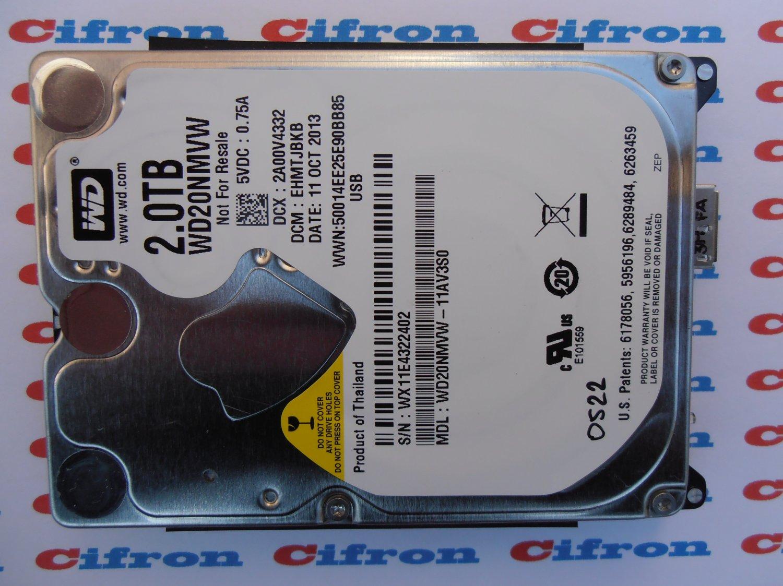 "HDD WD20NMVW-11AV3S0 2Tb EHMTJBKB 11OCT2013 2.5"" USB 3.0 0522 Donor Drive"