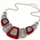 Red Bohemian Choker Necklace