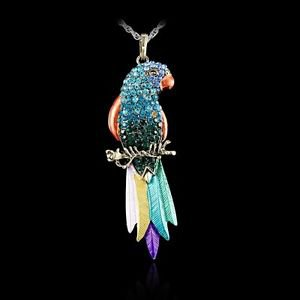 New Bird pendant Exquisite Colourful Parrot Pendants Necklaces
