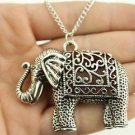 ANTIQUE SILVER PLATED ELEPHANT NECKLACE