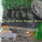 Tiger's Favorite Waterfall Print