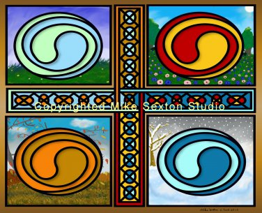 Celtic Seasons Print
