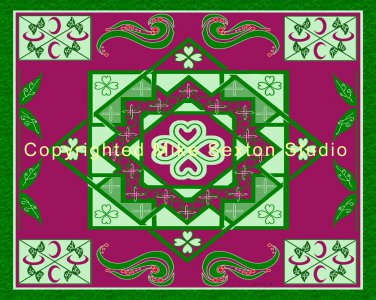 Garden Loch (Celtic Knot Print)