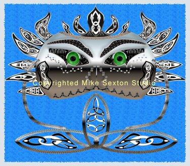 Celtic Mask Print