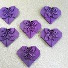 50 Origami  Hearts  handmade origami heart LOVE wedding favor party favor