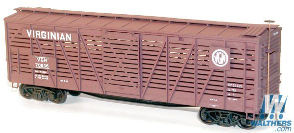 Accurail HO scale 40' wood stock car kit  Virginian