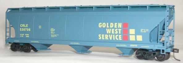"""Accurail HO scale ACF centerflow hopper """"Golden West Service""""  GVSR 527034"""