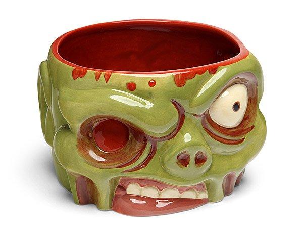 New, Zombie Bowl, Ceramic, 32 fl. oz. Approx. Capacity