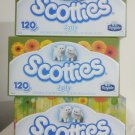 3-Boxes Scotties, Unscented 2 Ply 120-Ct. Facial Tissues, Boxes Designs May Vary
