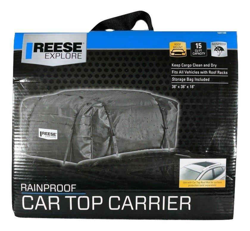 "New,Reese Explore,Rainproof Car Roof Mount Carrier,15 CU FT Capacity 38""x38""x18"""