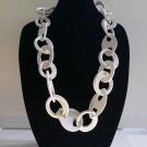 Infinity Necklace White