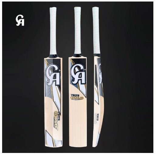 CA English Willow Cricket Bat White Gold Weight Range 2.8 Lbs with free Grip+Bag+Protector