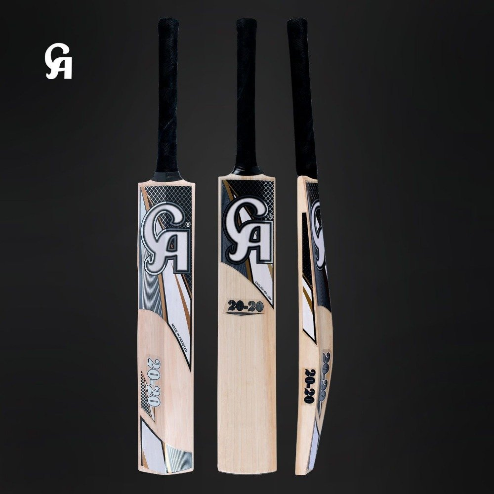 CA English Willow Cricket Bat 20-20 Weight Range: 2.7Lbs To 3.00 Lbs with free Grip+Protector