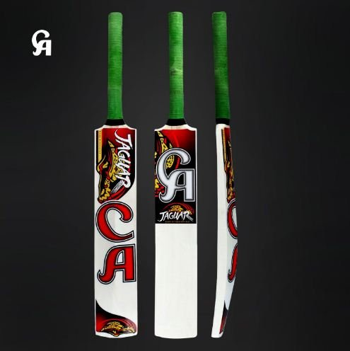 CA Jaguar Soft Ball Bat Made of Popular Willow Thick edges and light weight Ideal for tournaments.