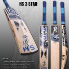 HS English Willow Cricket Bat HS 3 Star Weight From 2lb 7oz to 3lbs with free Grip+Protector.