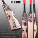 HS English Willow Cricket Bat HS 2 Star Weight From 2lb 7oz to 3lbs with free Grip+Protector.