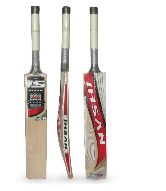 Ihsan LYNX X9 English Willow cricket bat Maximum Pike up and Balance with free grip+protector
