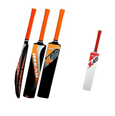 Ihsan Fiber Bat X-49 More Stronger Wieght Range 900 gme -950 gms Fitted With Rubber Grips.