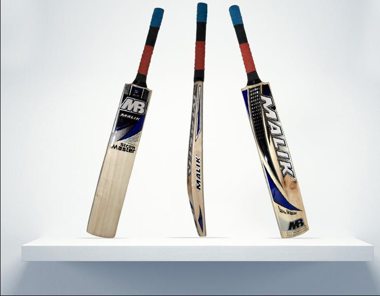 Mb Strok Master Cricket Bat English Willow Weight from 2.8-3.2LB With free Grip+Protector