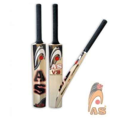 AS English Willow Cricket Bat V3 Weight From 2lb 7oz to 3lbs High Spin & Thick Edges
