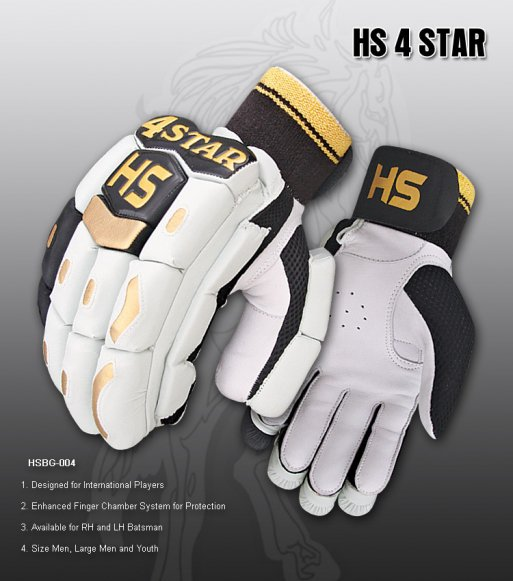 HS 4 STAR Batting Gloves Made of Original Pittards Leather Available for LH & RH Batsman