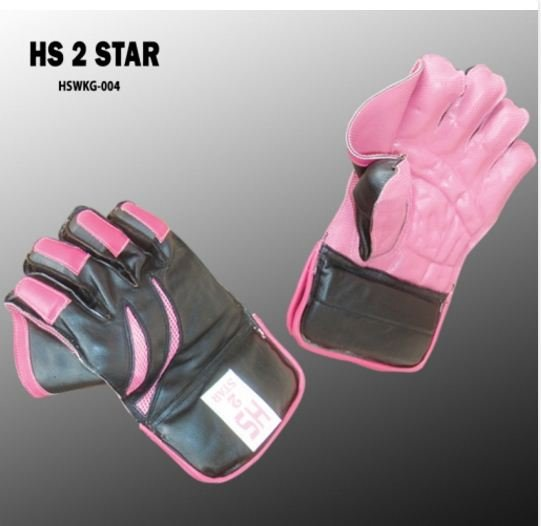 HS 2 STAR Premium quality pair of professional wicket-keeping glove made from quality leather