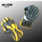 HS 4 STAR Premium quality pair of professional wicket-keeping glove made from quality leather