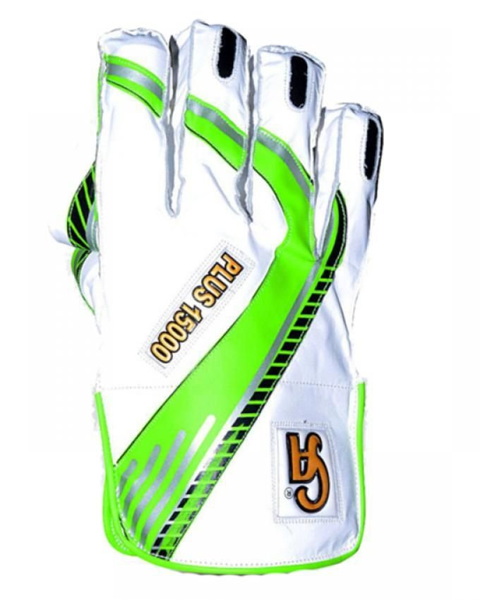 CA Plus 15000 Wicket keeper Gloves Made of Top Quality Cowhide Leather Available in different size