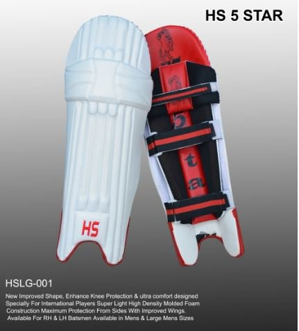 HS 5 STAR  Batting Pad Light weight Made of imported materials Available in different sizes
