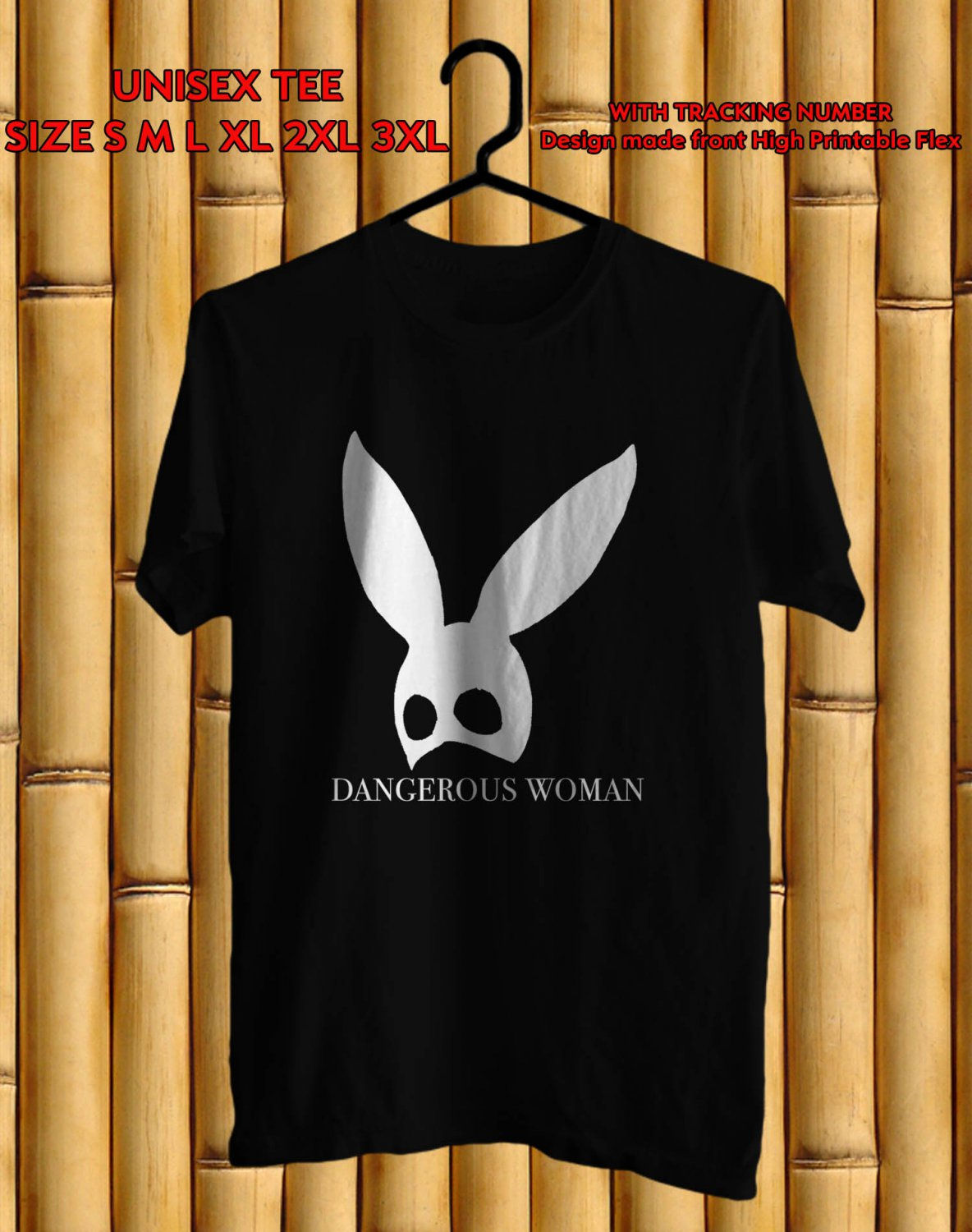 Logo of Ariana Grande Dangerous Woman Tour Many Colour tee by Complexart