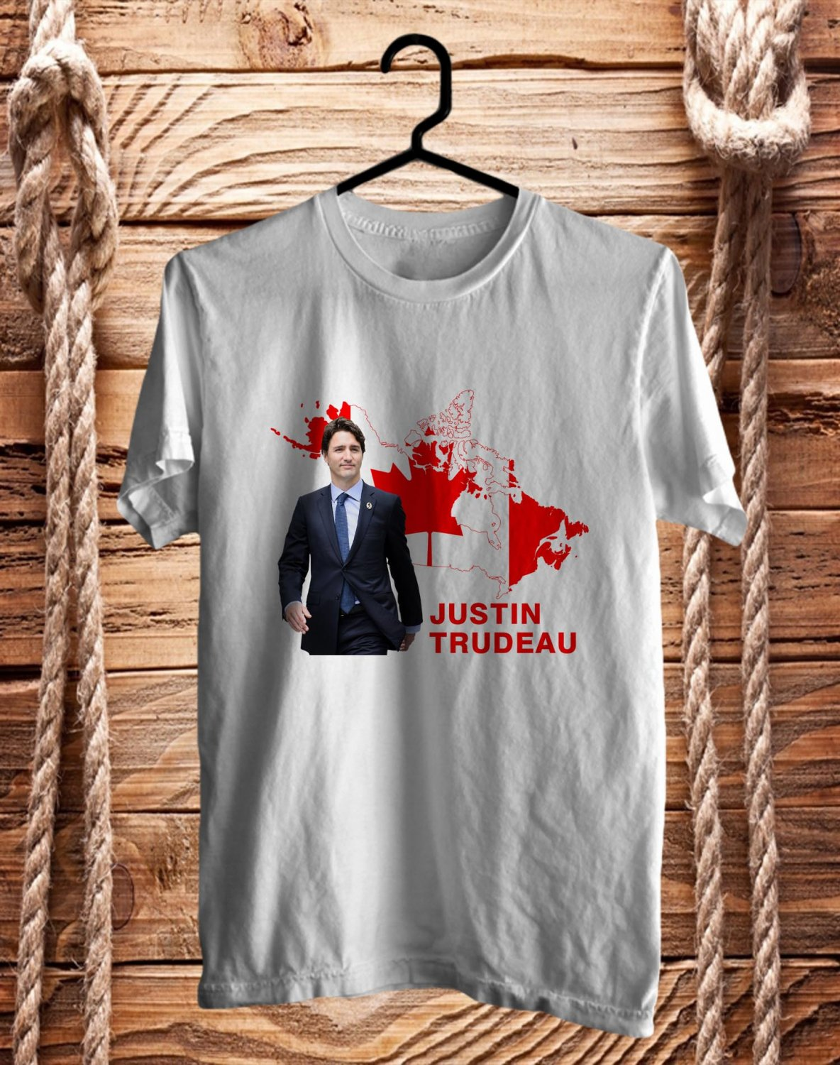 Justin Trudeau Canada White Tee's  Front Side by Complexart