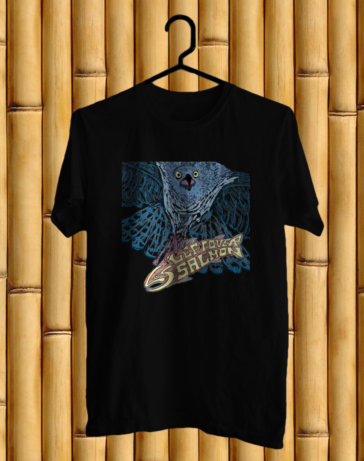 Leftover Salmons Band Logo Black Tee's  Front Side by Complexart c2