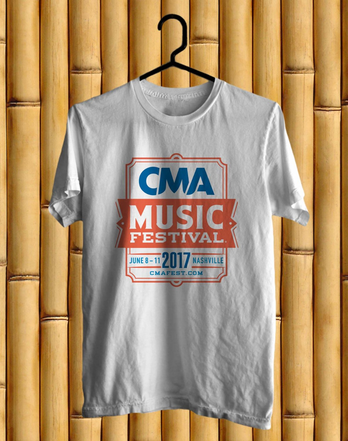 CMA Music festival White Tee's  Front Side by Complexart