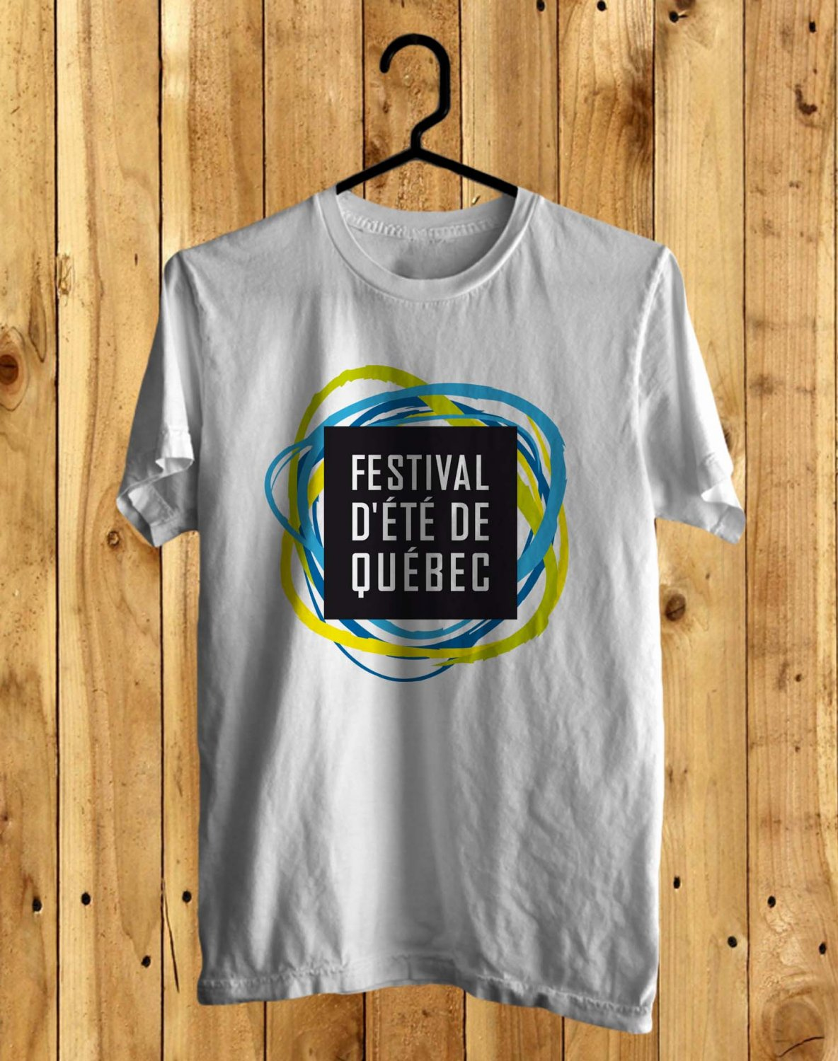 D' Ete Quebec Festival White Tee's  Front Side by Complexart c1