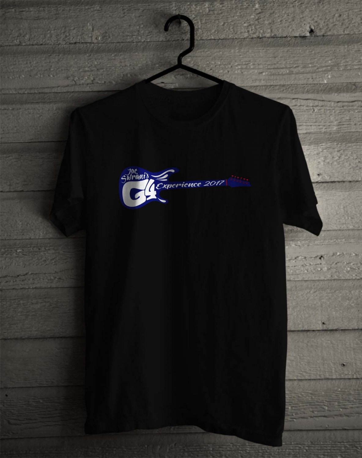 G4 Experience with Joe Satriani 2017 Black Tee's Front Side by Complexart