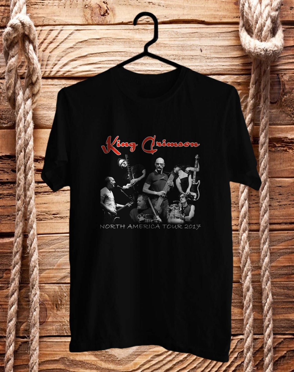 King Crimson Radial Action tour 2017 Logo Black Tee's  Front Side by Complexart c1