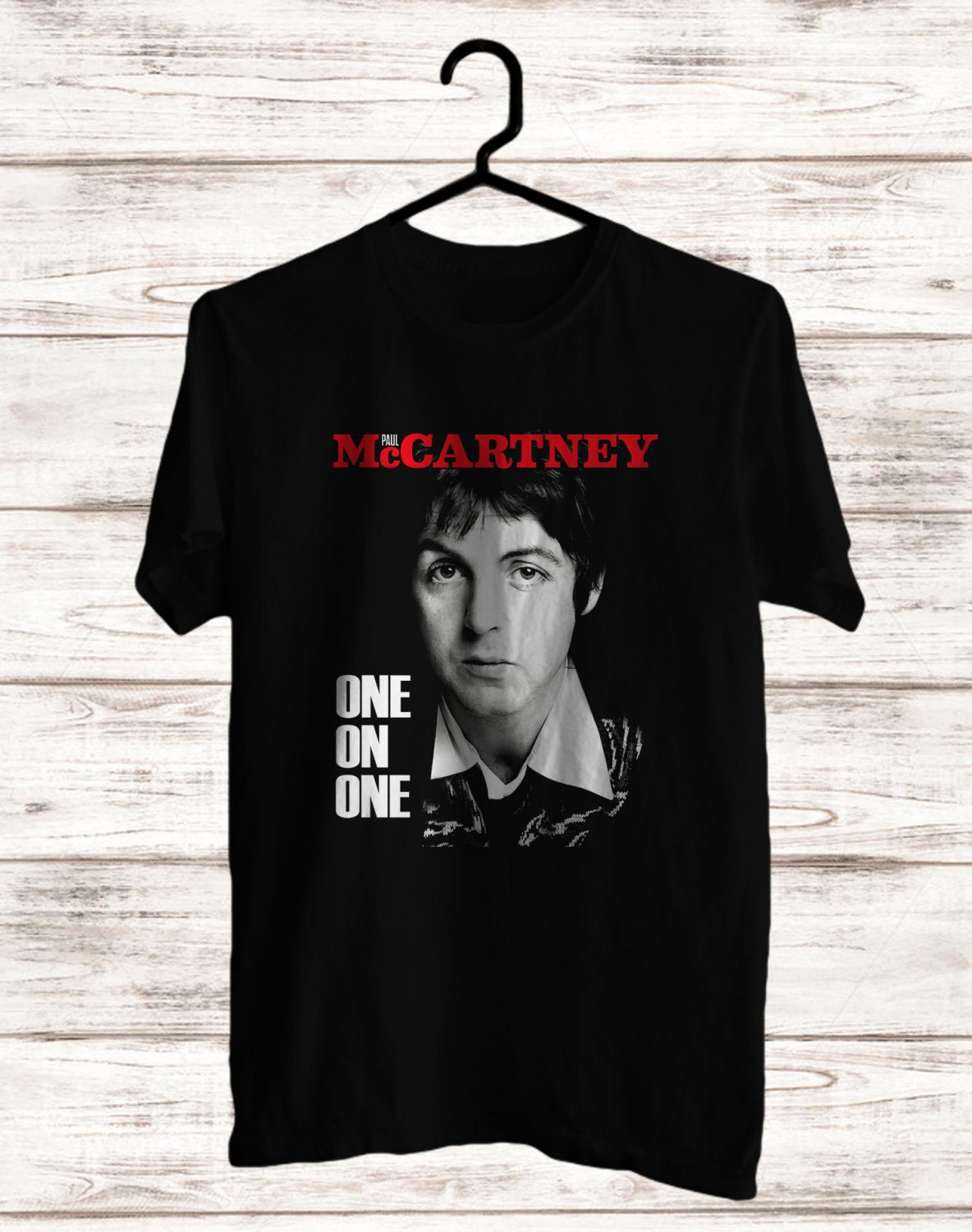 Paul McCartney One On One Tour 2017 Black Tee's  Front Side by Complexart c1
